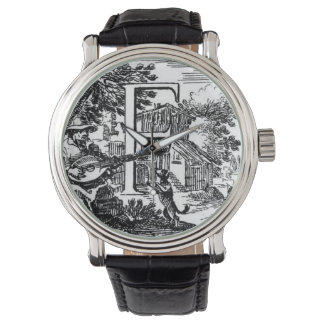 Illustrated Initial F (Italian) Wristwatches