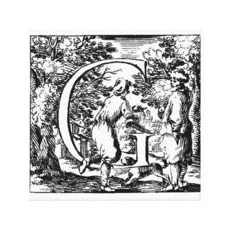 Illustrated Initial G (Italian) Canvas Print