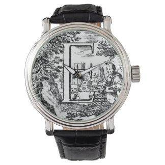 Illustrated Initial (Italian) Wristwatch