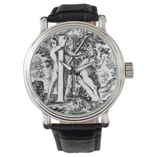 Illustrated Initial  K (Italian Woodcut) Wrist Watches