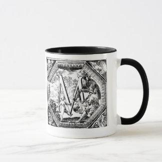 Illustrated Initial  M (Italian Woodcut) Mug