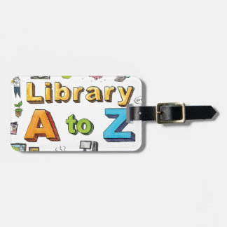 Illustrated Library A-Z Logo Tag For Bags
