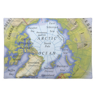 Illustrated Map 2 Place Mats