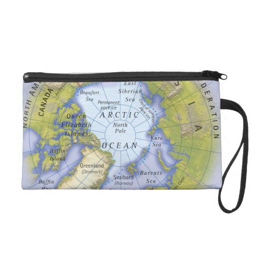 Illustrated Map 2 Wristlet Clutches