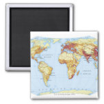 Illustrated Map 3 2 Inch Square Magnet