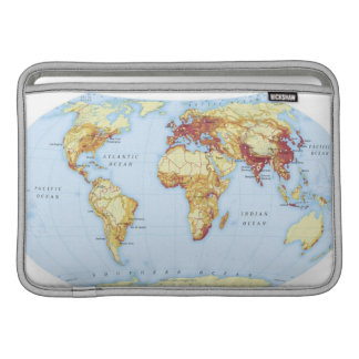 Illustrated Map 3 Sleeve For MacBook Air