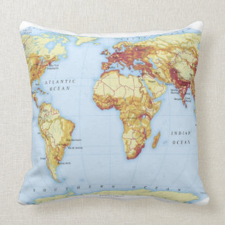 Illustrated Map 3 Throw Pillow