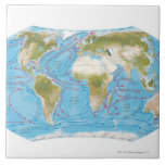 Illustrated Map Large Square Tile