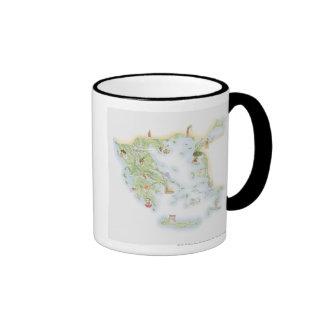 Illustrated map of Ancient Greece Coffee Mug