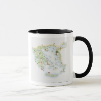 Illustrated map of Ancient Greece Mug