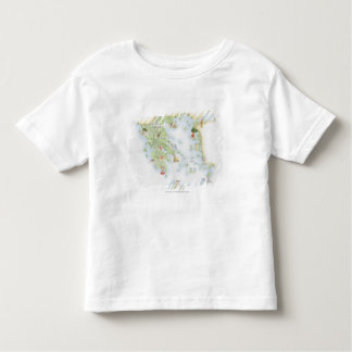 Illustrated map of Ancient Greece Toddler T-shirt