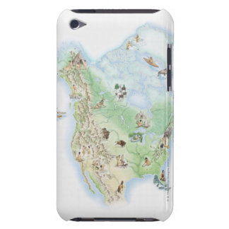 Illustrated map of North America showing Barely There iPod Case