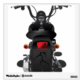 Illustrated Motorcycle Back Wall Graphic