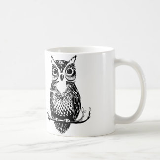 Illustrated Owl Mug