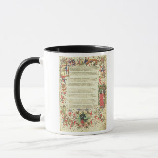 Illustrated Page from the Triumph by Petrarch (min Mug