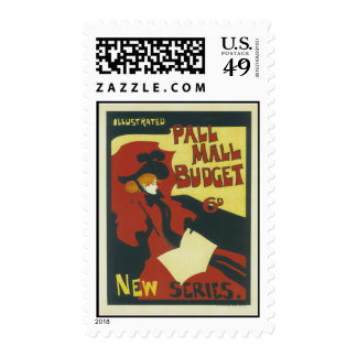 Illustrated Pall Mall Budget New Series Postage Stamp