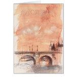 illustrated PARIS BONJOUR Greeting Card