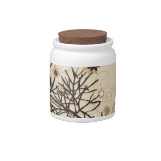 Illustrated Plant 2 Candy Jar