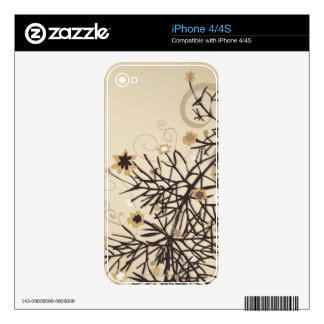 Illustrated Plant 2 Decals For iPhone 4