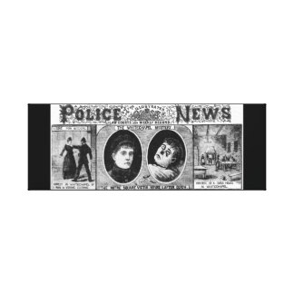 Illustrated Police News 1888 Whitechaple Mystery Canvas Prints