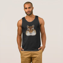 Illustrated portrait of Chipmunk. Tank Top