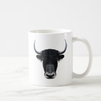 Illustrated portrait of Domestic yak. Coffee Mug