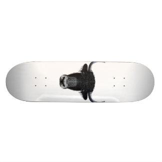 Illustrated portrait of Domestic yak. Skateboard Deck