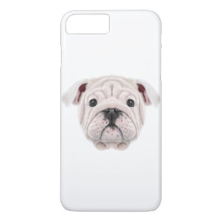 Illustrated portrait of English Bulldog puppy. iPhone 8 Plus/7 Plus Case