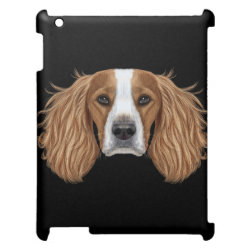 Case Savvy Glossy Finish iPad Case with Springer Spaniel Phone Cases design