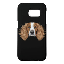 Case-Mate Barely There Samsung Galaxy S7 Case with Springer Spaniel Phone Cases design