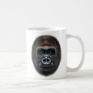 Illustrated portrait of Gorilla male. Coffee Mug