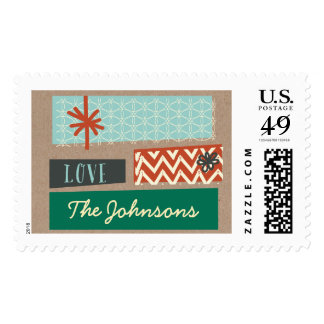 Illustrated Presents | Holiday Postage Stamp