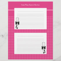 Illustrated recipe pages for binders