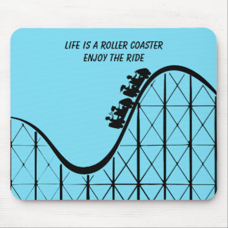 Illustrated Roller Coaster with people Mouse Pad