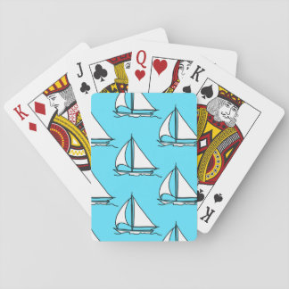Illustrated Sailboat Pattern Deck Of Cards