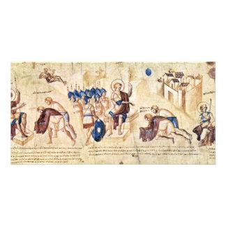 Illustrated Scroll Of The Scene Of Joshua: Joshua Personalized Photo Card