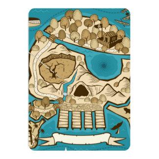 Illustrated Skull Island Map Card