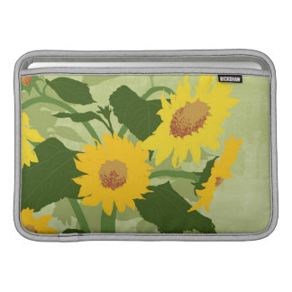 Illustrated Sunflowers Sleeve For MacBook Air