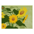 Illustrated Sunflowers Poster