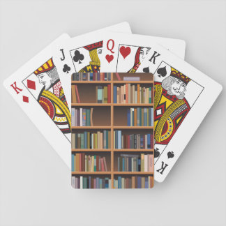 Illustrated Tall Bookshelf Playing Cards