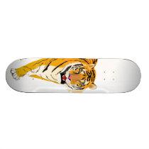 Illustrated Tiger Skateboard Deck