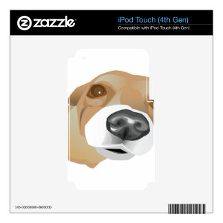 Illustrated vector portrait of a little dog iPod touch 4G skin