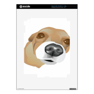 Illustrated vector portrait of a little dog skin for iPad 2