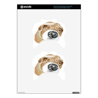 Illustrated vector portrait of a little dog xbox 360 controller decal
