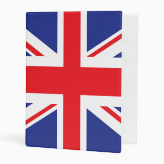 Illustrated version of the british flag mini binder