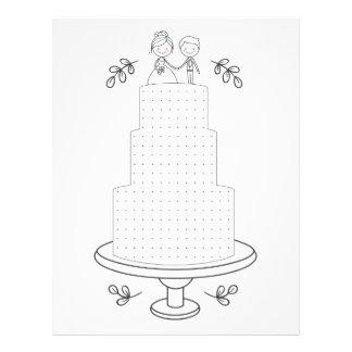 Illustrated wedding activity dot game letterhead