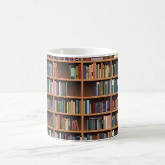 Illustrated Wide Bookshelf Coffee Mug