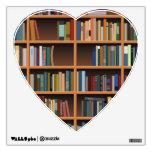 Illustrated Wide Bookshelf Wall Sticker