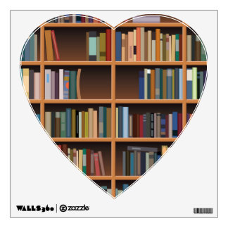 Illustrated Wide Bookshelf Wall Graphics