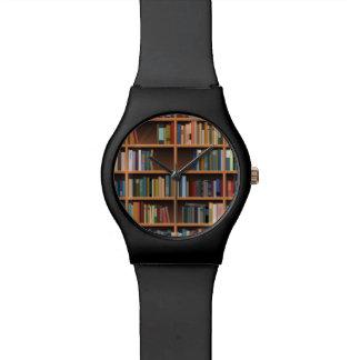 Illustrated Wide Bookshelf Watch